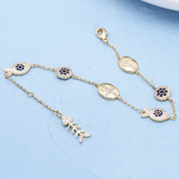 Wholesale star shaped charms resale online - Simple CZ Zircon Fish Bone Charm Bracelets for Women Lucky Star Shape Adjustable Chain Bracelet Friendship Jewelry Gift
