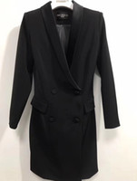 düğme güzel toptan satış-Balmain 2019 Slim fit Bayan Tasarımcı Casual Parti Seksi Ceket Giyim Kız Modeli Çalışması güzel Elbise Balmain Düğmesi