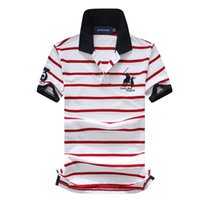 t-shirts ralph großhandel-Ralph Polo Lauren T-Shirt Herren Polo Shirt Outdoor Freizeit Top Polo Baumwolle gestreiften Tee Revers Golf Polo Shirts Qualität Mann Marke T-Shirts