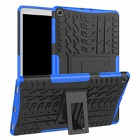 Wholesale waterproof hard case china resale online - Shockproof Shell Hard Rubber Case For Samsung Galaxy Tab A T510 T515 SM T515 SM T510 Cover Stand Case PEN