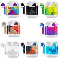 Wholesale decal sticker apple for sale - Group buy Colorful Scratch Resistant Protective Sticker For Apple AirPods Charging Case Shell Stickers Decals Ultra Thin Cover