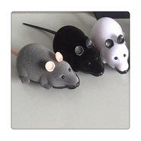 neuheit mäuse spielzeug großhandel-Fernbedienung Maus Haustier Spielzeug Wireless für Katze Hundespielzeug Neuheit Geschenk Lustige Fernbedienung Haustier Spielzeug RC Ratte Geschenke