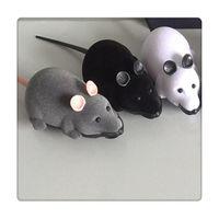 brinquedos novidade ratos venda por atacado-Rato de Controle remoto Pet Brinquedos Sem Fio Para O Gato Do Cão Brinquedos Presente Da Novidade Engraçado Controle Remoto Pet Brinquedos RC Rato Presentes