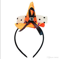 Wholesale mini hat hair accessories resale online - 5Pcs Props Witch Hoop Hairband Little Hat Headband Mini Hair Hoop For Halloween Party Jewelry Fantastic Festival Hair Accessories
