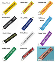 quitar etiquetas al por mayor-14 colores Llavero QUITAR ANTES DEL VUELO Color de la lona bordada Llavero opcional Etiqueta de equipaje Etiqueta Aviación Accesorios de moda
