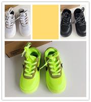 siyah sıcak kız toptan satış-OW Kapalı Zorla 1 Volt 2.0 Çocuk Sneakers Beyaz Turuncu Sarı Siyah Erkek Kız Moda Sıcak Spor Ayakkabı