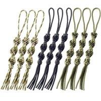 cordons tactiques achat en gros de-9 PCS QingGear Main Paracord Tactique Couteau Lanière Twist Porte-clés Lampe De Poche USB Zipper Lanière Paracord