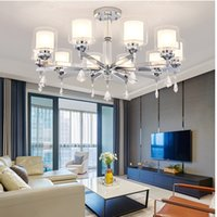 Wholesale chrome switches resale online - Modern Chandelier Lighting Chrome Led Chandeliers Lighting Crystal Living Room Led ceiling Chandelier for Living room Lights