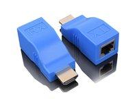 ingrosso contatore di segnale hd-Extender HDMI 30 metri di cavo di rete per trasmettitore di amplificazione del segnale di linea HDmi HD