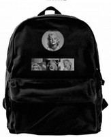 eafc7d8a43e7 Marilyn Monroe Vintage Fashion Canvas designer backpack For Men   Women  Teens College Travel Daypack Leisure bag Black