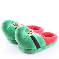 niños zapatillas de navidad al por mayor-Zapatilla de navidad Pareja Niños Familia Cálido Zapatillas de invierno Algodón Suave Espesar Zapatillas de casa encantadoras Zapatos interiores para festival