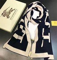 ingrosso b sciarpa-Europa B Designer fashion Stampa di grandi lettere stile Sciarpa di cotone Pashmina sciarpe per le donne invernali Sciarpe di lana