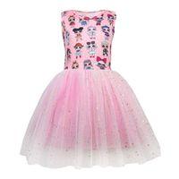 vestidos de princesa crianças venda por atacado-Presente LOL vestido Meninas Vestidos Bebê Menina Roupas de Designer Crianças Boutique Princesa Verão Backless Bow Ball Gown Crianças Roupas