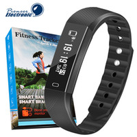 control de contador al por mayor-ID115 F0 Pulseras Inteligentes Rastreador de ejercicios Contador de Pasos Monitor de Actividad Banda Reloj Alarma Vibración Pulsera para iphone Samsung teléfono Android