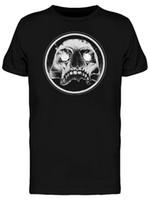 camiseta nueva imagen de diseño al por mayor-Diseño del cráneo hipnótico camiseta de los hombres -Image Por Nueva unisex divertido Tops Camiseta