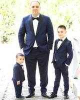 smokings azuis dos homens para casamentos venda por atacado-Smoking formal Do Casamento 2019 Clássico Fit Ternos Dos Homens de Volta Ventilação Formal Smoking Ternos Meninos Custom Made Para Casamentos