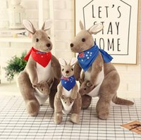 Wholesale parent gifts for christmas resale online - Plush Dolls Kangaroo plush toy doll mother kangaroo doll creative parent child Novelty Toys Xmas Gift For Kids Holiday Gift