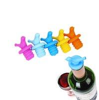 silikon şarap tapası toptan satış-Kuş Silikon Şişe Kapağı Şarap Şişesi Tıpa Kırmızı Şarap Kapak Mutfak Bar Aracı Şampanya Şişesi Depolama Fiş Kap
