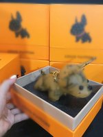 Wholesale cute key chains for sale - Group buy 2020 High Quality Leather Bulldog Keychain Cute Animal Dog Key Chain Charm Bag Car Key Ring Pendant Accessories Trinkets