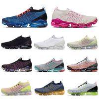 free run rose al por mayor-Free Run Cojín Tejer 3.0 para hombre Zapatos de funcionamiento de la mosca azul Furia ROSA RISE triple herencia Blanco Negro hombres entrenador zapatillas de deporte de las mujeres