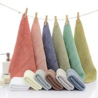 pequenas toalhas de mão quadradas venda por atacado-33 * 33 centímetros crianças quadrada de algodão toalha de rosto toalha de cozinha mão mini-moda toalhas de mão pequena têxteis lar