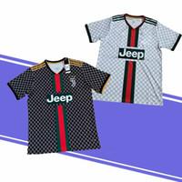 maillot de football broderie achat en gros de-Dernière Version Thaïlande Juventus maillot de football 7 RONALDO 11 D.COSDR 10 DYBALR 9 HIGUAIN maillot de football Broderie Logo Pas cher et bien