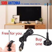 anten kurmak toptan satış-AH-LINK 5DB HDTV dijital TV anteni DVB-T TV anteni için dahili Tdt güçlendirici HD DVB-T2 radyo yüksek frekanslı VHF TV anteni