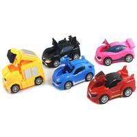 Wholesale pocket watches for online - 5pcs set Pocket Watch Kart Cars Fgirue Diecast Cars Transformation Model Toys For Children Holiday Gift J190525