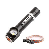Wholesale work headlamp for sale - Group buy Free XML T6 Zoomable led Flashlights headlamps Torches USB Charging T6 Flashlight Outing Camping Necessary Light with battery