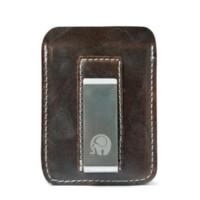 держатели металлических карт оптовых-Натуральная кожа зажим для денег мужчины металлик карты тонкий счета зажим для денег тонкий бумажник держатель новый сплошной коричневый черный кошелек