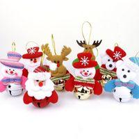 muñeco de nieve de juguete al por mayor-2019 New Christmas Santa Claus Snowman Bear Elk 8 Styles Exclusive Super Cute Christmas Decoration Tree Decorations Festival Toy Free Ship