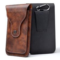 couro do coldre do telefone móvel venda por atacado-Alta Qualidade PU Cinto De Couro Clipe Holster Mobile Phone Case Bolsa shell Para 6.5 polegada