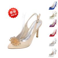 novia puede al por mayor-Sexy2019 Can Lu Ni Cool Will Fine Wedding Bride Banquet Shoe Zapatos de flores de diamantes de imitación tridimensionales