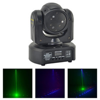 ingrosso luce laser a testa laser-AUCD Mini 3 teste RGB Laser Shark Moving Beam Light DMX Professional Bar Party Disco Show DJ Stage Lighting DJ-3H