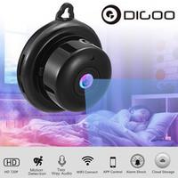 güvenlik hdd toptan satış-Sıcak Satmak WIFI Kablosuz Kamera Siyah 360 Panorama 720 P Bulut Depolama Akıllı Ev Güvenlik WiFi IP 1.8mm / 3.6mm Lens Kamera