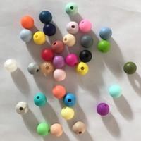 tecido bebê brinquedos artesanais venda por atacado-9 milímetros Atacado Rodada soltas Silicone Beads Seguro mordedor bebê mastigável não-tóxicos BPA livre 100% de grau alimentício dentição Beads para produtos calmantes
