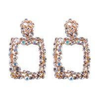 01f3a965c54c Vintage Colorido Cristal Geométrico Gran Cuadrado Pendientes Llamativos Para  Las Mujeres Pendientes Joyería de Moda Gota Cuelga Los Pendientes CE475