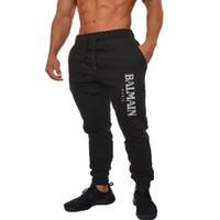 nouveau pantalon de sport achat en gros de-Gentleman BALMAIN PANTS Nouveau Automne Hiver Sports Pieds Pantalons Hommes Sport Running Pantalon De Basketball Chaud Respirant
