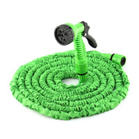 Wholesale 25ft hose resale online - FT FT Plastic Materials A Quality Blue Water Spray Nozzle Sprayers Expandable Flexible Water hose Garden Pipe Set
