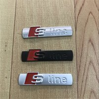 Wholesale black s line badges for sale - Group buy 3D S Line Sline Car Front Grille Emblem Badge Metal Alloy Stickers Accessories Styling For Audi A1 A3 A4 B6 B8 B5 B7 A5 A6 C5 C6 A7 TT