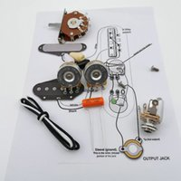 Wholesale Guitar Capacitor Potentiometer CTS K Copper shaft Wiring Kit for Stra CDE P V Orange Drop Cap Welding line drawing