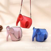 mini elefantes azuis venda por atacado-Belle2019 Azul Metros Alcance Span Cadeia de Telefone Celular Mini- Como Genuíno Couro Único Pacote de Ombro Elefante Pequeno Saco
