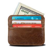 карманные магниты оптовых-Зажим для денег, передний карман бумажник, кожа RFID блокирует сильный магнит тонкий бумажник с 6 держателями карт и 1 портмоне