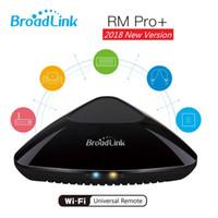 evrensel klima uzaktan kumandalı toptan satış-Uzaktan Broadlink RM Pro Akıllı Ev Otomasyonu Akıllı Broadlink WIFI IR RF TV DVD Oynatıcı Klima Evrensel kumanda 1pcs