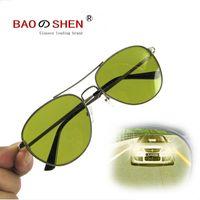 óculos de sol polarizados amarelos antiofuscantes venda por atacado-amarelo Óculos de Visão Noturna Óculos polarizados Dia e noite Vidros do motorista Anti-reflexo Anti-alto feixe Iluminar Anti-UV