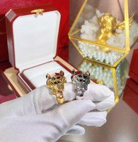 Wholesale couple ring for sale - Designer PANTHÈRE DE C Jewelry Ring Luxury domineering leopard head gold ring luxury jewelry for men and women