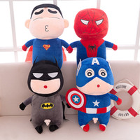 Wholesale spiderman doll toy resale online - 2019 New styles plush toys cosplay Avengers cute plush dolls Batman Spiderman Super hero dolls kids birthday gift