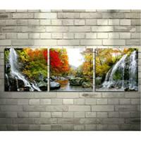 пазлы пейзаж оптовых-Оптовая 5D алмазная картина пейзаж водопад головоломки картина вышивка алмазная мозаика картина детская живопись стразы
