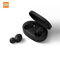 bt stereo kulaklık toptan satış-Xiaomi Redmi Airdots TWS Bluetooth kulaklık Stereo bas BT 5.0 eller serbest mikrofon kulaklık AI Kontrolü ile Eeadphones