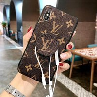 Wholesale Designer iPhone XS Max Case For iPhone X XR Plus iPhoneX Fashion Cell Phone Cases Back Cover With Kickstand Grips